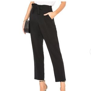 1. State Black Tie Waist Tapered Leg Dress Pants